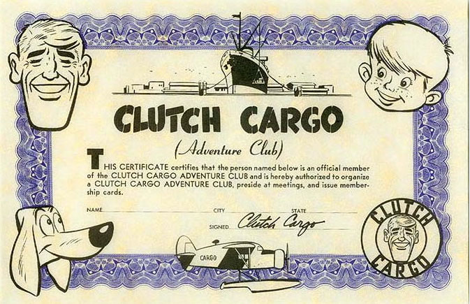 Like any bona fide pulp hero, Clutch had his own Adventure Club