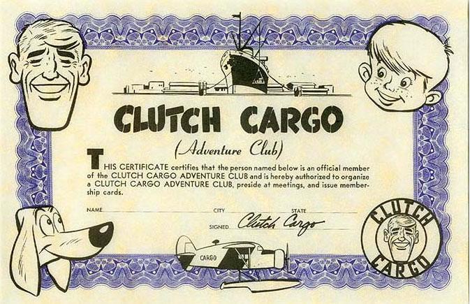 Like any bona fide pulp hero, Clutch had his own Adventure Club