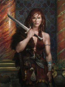 593x800_7883_Red_Sonja_2d_fantasy_oil_painting_warrior_female_red_hair_picture_image_digital_art