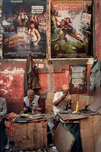 Moroccan Shoe Workers, Morocco, 03/1988, final book_iconic