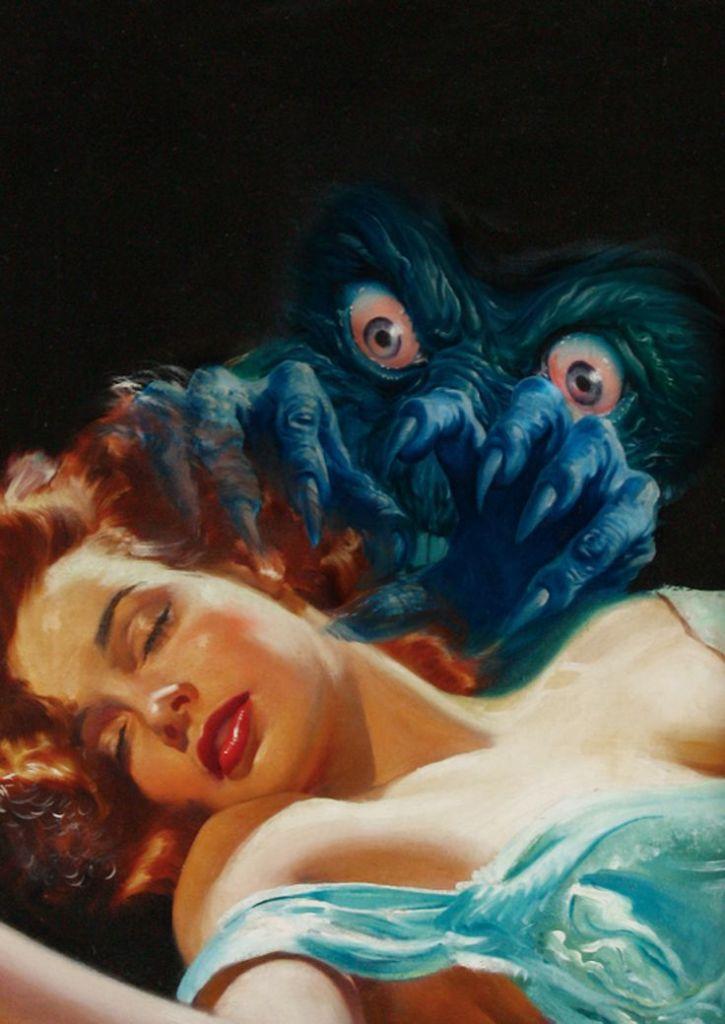 Lawrence Sterne Stevens Cover art for Fantastic Novels, July 1948