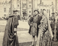 Wolsey presenting Hampton Court to King Henry VIII