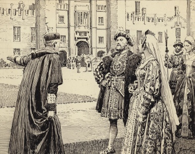 Wolsey presenting Hampton Court to King Henry VIII