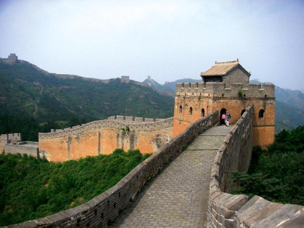 Große innere Mauer der Ming-Zeit nahe der chinesischen Hauptstadt Peking