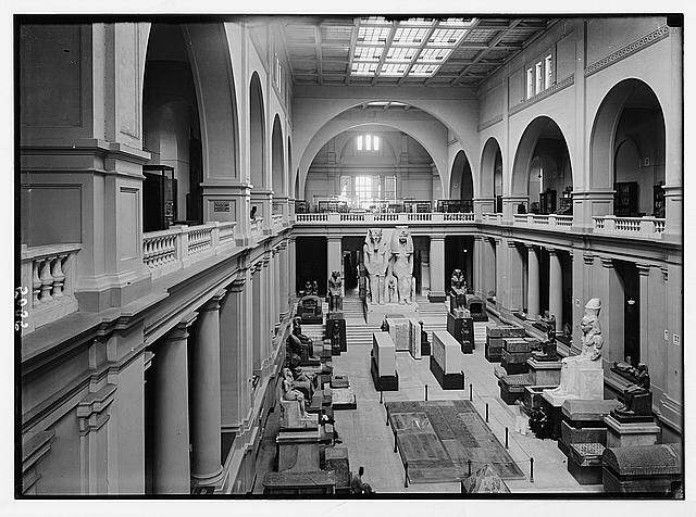 Cairo and district, Egypt. The Egyptian Museum. Interior of m...