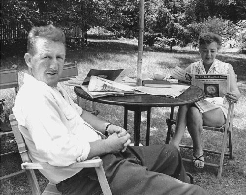 David and Elva Dodge, Princeton, NJ, 1956