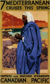 1930-Canadian-Pacific-7-Mediterranean-Cruises-Vintage-Travel-Poster