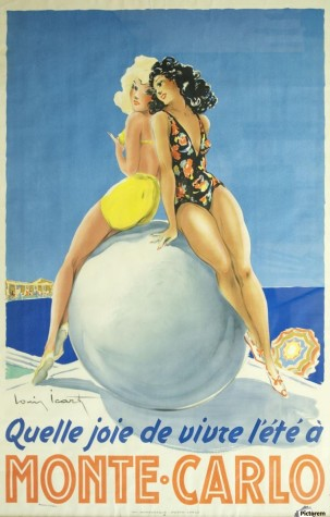 900_Vintage travel poster for Monte Carlo