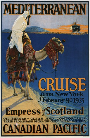 Mediterranean-cruise-advertising-canvas-print-poster-1925