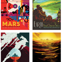 Vintage space-travel posters from NASA