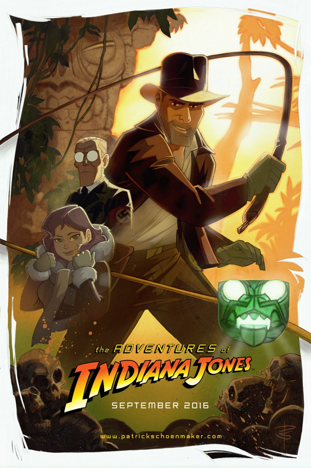 the-adventures-of-indiana-jones-animated-movie-poster