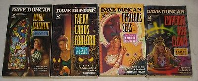 Dave-Duncan-lot-of-4-fantasy-paperbacks-the