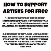Support artists (and writers) for free