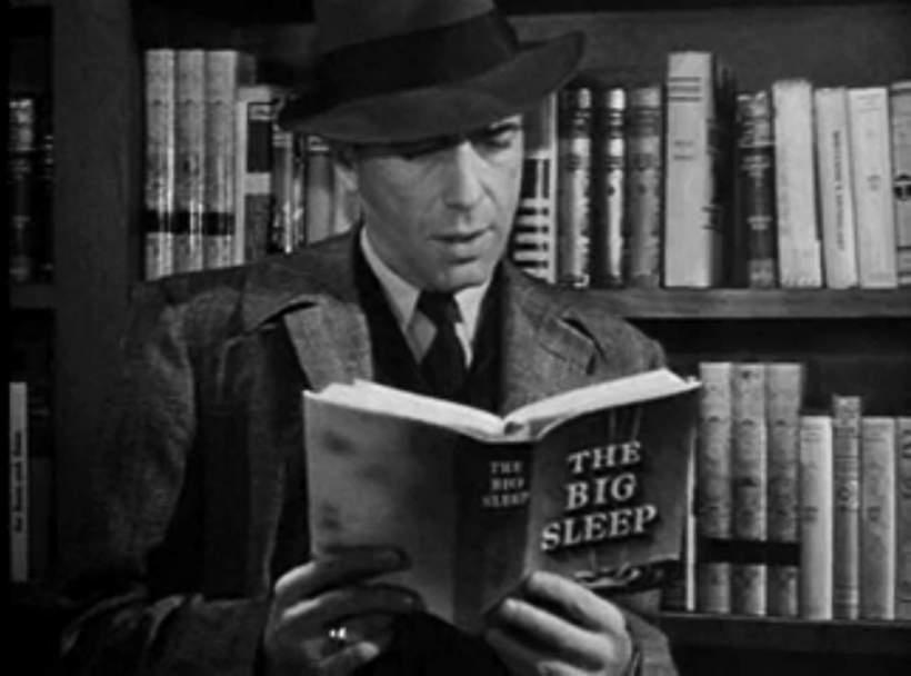 Bogie reading Chandler
