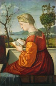 Vittore Carpaccio (Italian, c. 1465 - 1525/1526 ), The Virgin Reading, c. 1505, oil on panel transferred to canvas, Samuel H. Kress Collection