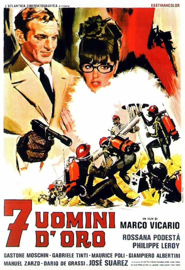 7 uomini d'oro - poster