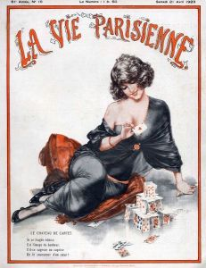 La Vie Parisienne 1923 1920s France C Herouard illustrations magazines playing cards