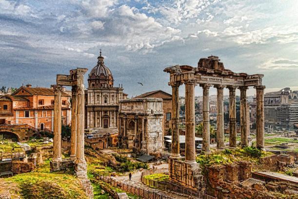 ancient-roman-forum-ruins-impressions-of-rome-georgia-mizuleva